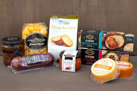 Meet & Cheese Gift Basket | BrilliantGifts.com