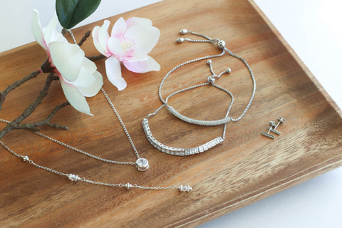 Silver Jewelry Gift Set