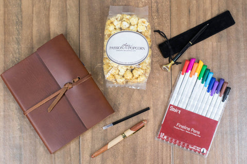Leather Journal Anniversary Gift Box | BrilliantGifts.com