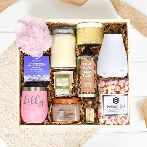 Spa Themed Gift Crate | BrilliantGifts.com