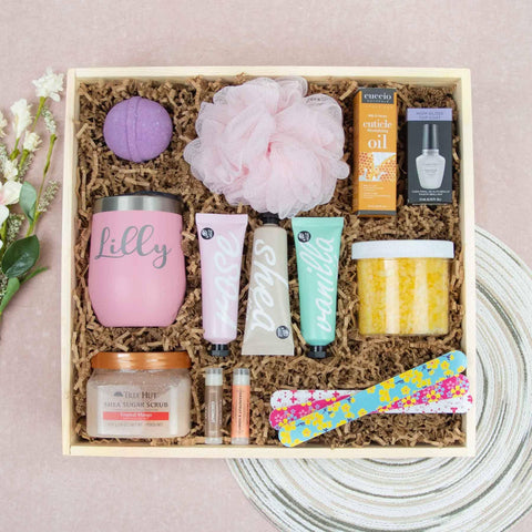 Spa Day Gift Crate For Her | BrilliantGifts.com