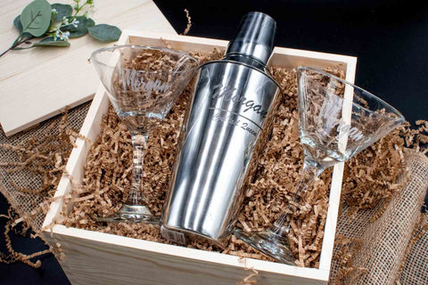 Personalized Cocktail Shaker Gift | BrilliantGifts.com