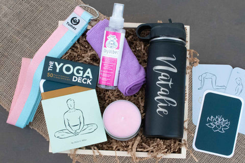 Yoga Themed Gift Crate | BrilliantGifts.com