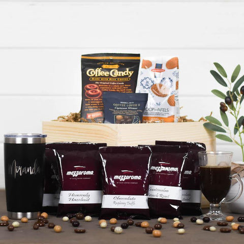 Coffee Themed Gift Crate
