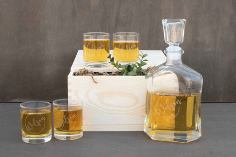 Engraved Decanter Gift Box