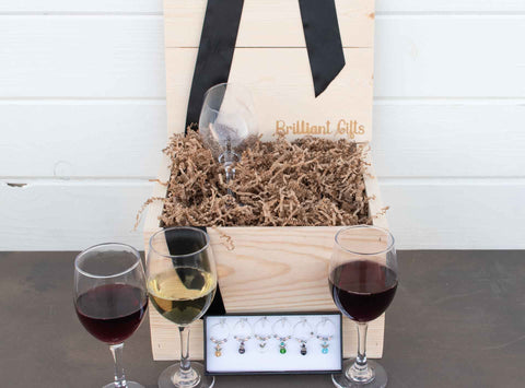 Custom Wine Gift Box for Her | BrilliantGifts.com