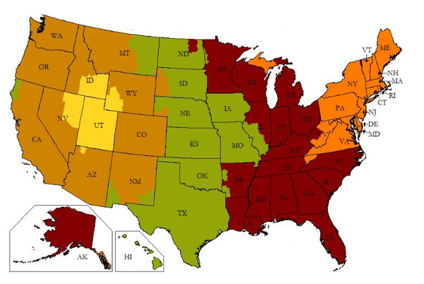 Brilliant Gifts Holiday Shipping Map