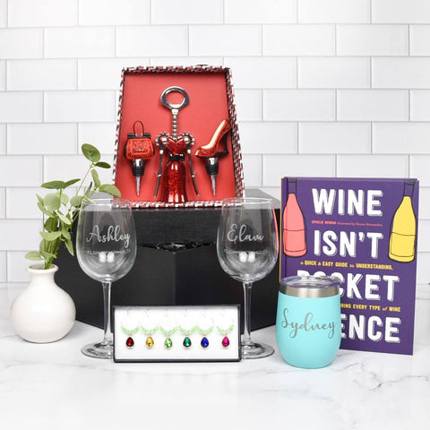 Wine Themed Gift Crate
