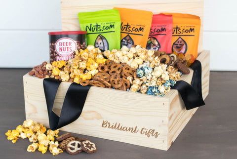 Sweet and Salty Gift Basket | BrilliantGifts.com