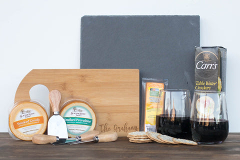 Personalized Wine & Cheese Gift Box for Her | BrilliantGifts.com