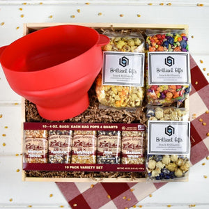 Popcorn Gift Crate | BrilliantGifts.com