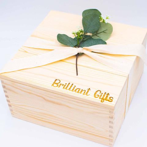 Premium Hand Crafted Pine Crate with Lid