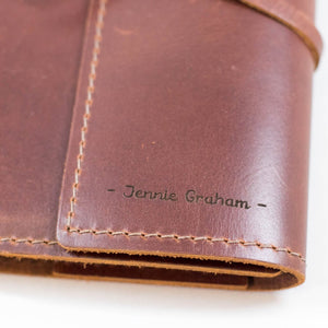 Personalized Leather Journal | BrilliantGifts.com