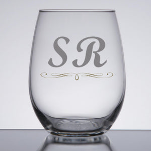 Personalized Stemless Wine Glass | BrilliantGifts.com