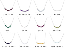 Load image into Gallery viewer, A Variety of Birthstone Necklaces for Women