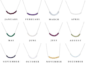 A Variety of Birthstone Necklaces for Women