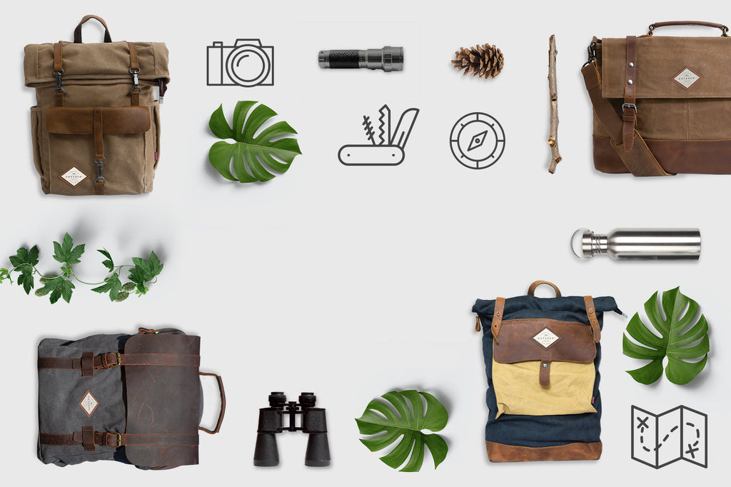 KOVERED Waxed Canvas backpacks and Satchels