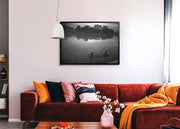 Aeron Denver Delos Reyes Fishing In The River - Print Original - Street Photography