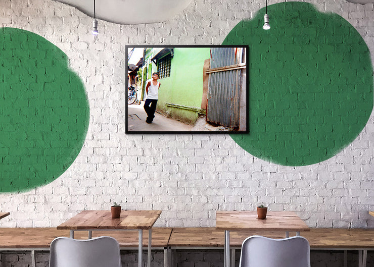 Christopher Topher Castro - Green Wall - Print Original - Project Hidden Places