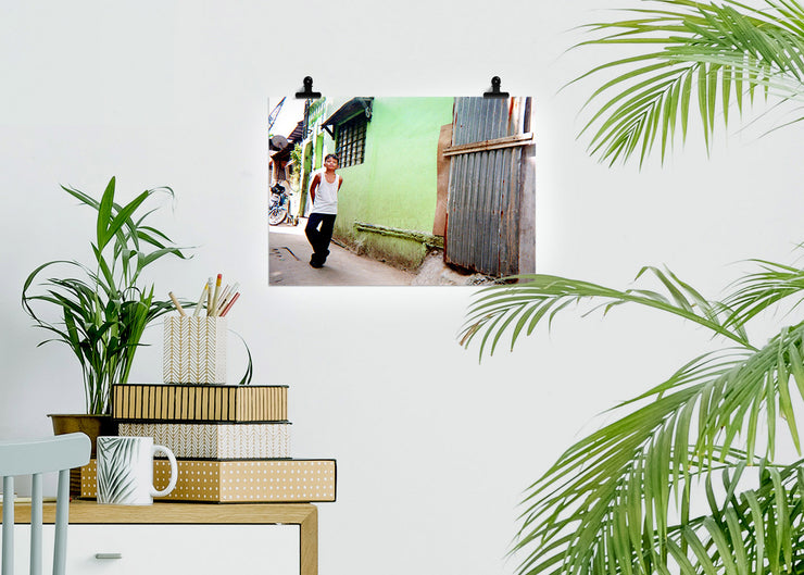 Christopher Topher Castro - Green Wall - Print Poster DinA3 - Project Hidden Places