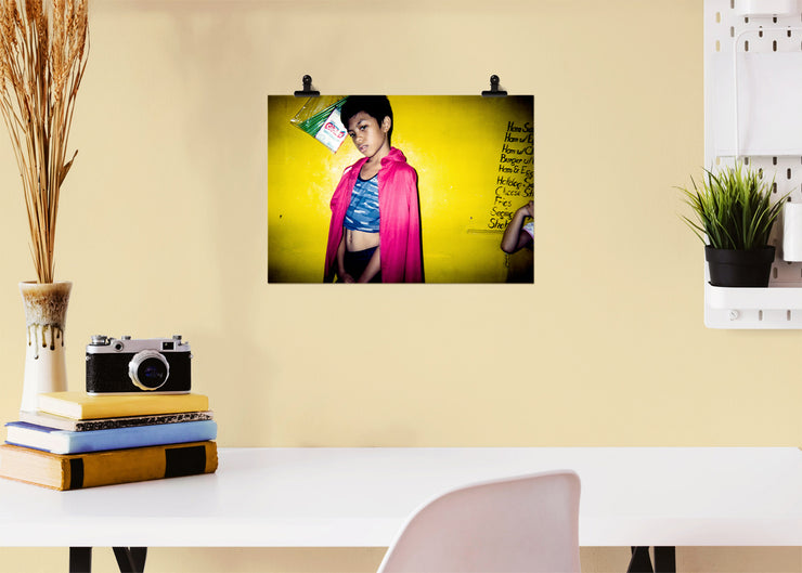Spyke A. Reyes - Posing - Print Poster DinA3 - A Life In Colours