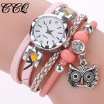 New Fashion Women Girls watches Analog Quartz Owl Pendant Ladies Dress Bracelet Watches Relogio Feminino Casual Bayan Kol Saati