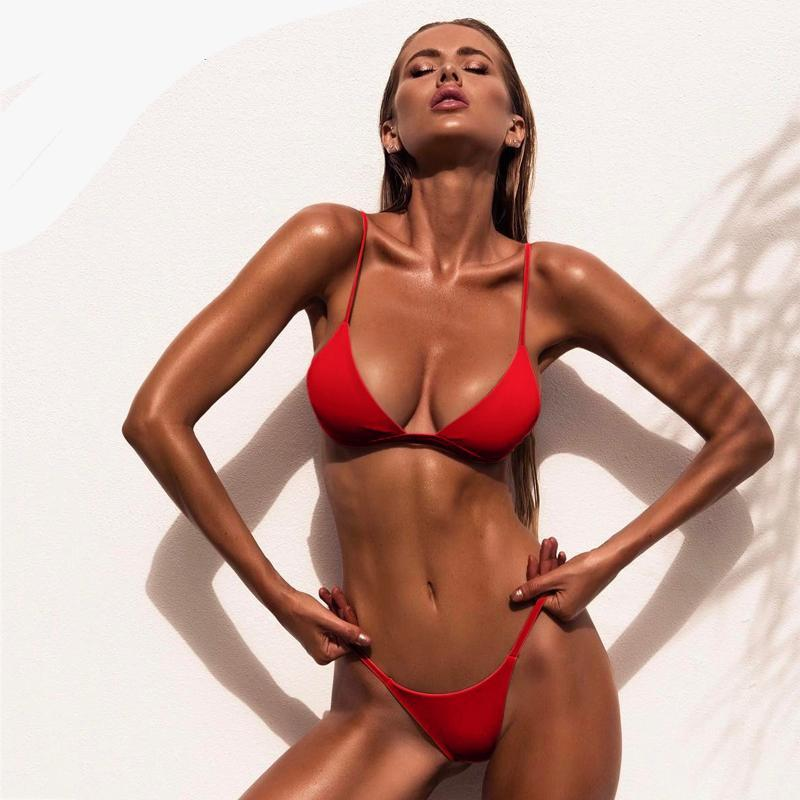2019 Sexy Brazilian Stylish Low Waist Push Up Bikini Swimsuit