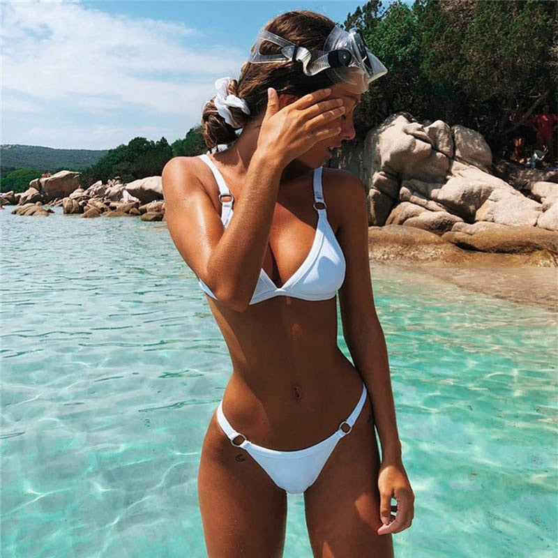 2019 Summer Brazilian Halter Bikini Swimsuit