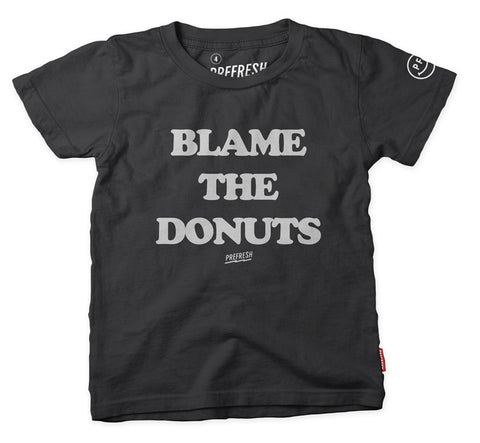 Blame the Donuts - SS Tee - Vintage Black