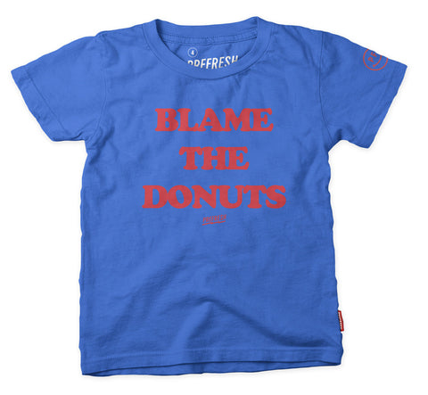 Blame the Donuts - SS Tee- Blue