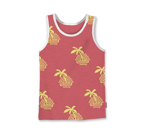 Never Ending Vacay - Tank - Vintage Red