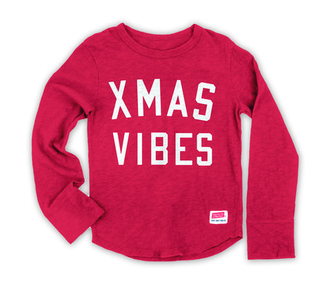 Xmas Vibes - Long Sleeve Red