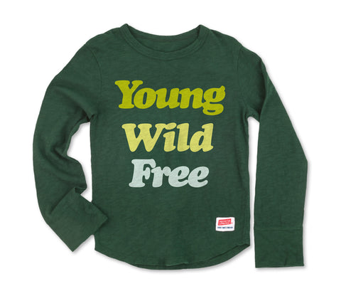 Young Wild Free - Long Sleeve Dark Green