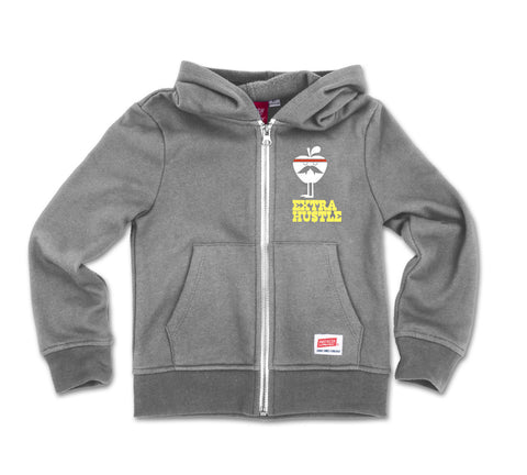 Extra Hustle - Zip Fleece Sweatshirt GREY
