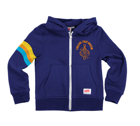 Follow That Dream - Zip Fleece Sweatshirt Royal Blue