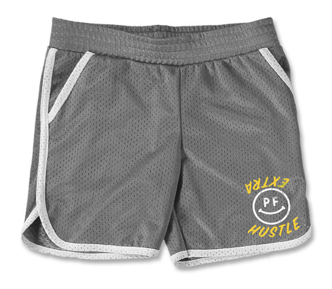 Extra Hustle - Gym Shorts - Silver