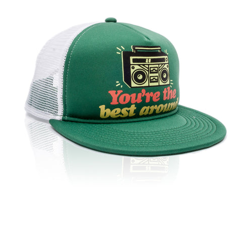 Best Around - Trucker Hat - Green/White