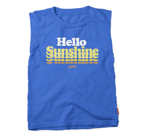 Hello Sunshine - Rocker Tee - Blue