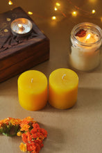 Load image into Gallery viewer, Lilith Small Yellow Pillar Candle - 2 Inch Pack of 2