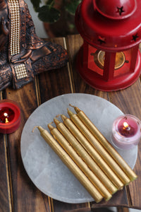 Gold Candle | Spell Work - Set of 25 | 50 | 100 | 200