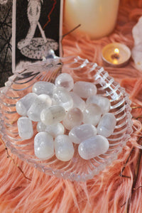 Selenite Tumble Stone | Selenite Crystal - 1 Piece