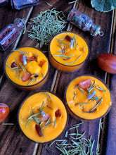 Load image into Gallery viewer, Orange Scented Tea Light Candles - Rosemary & Orange Carnelian