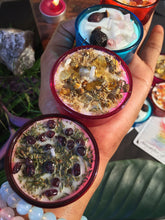 Load image into Gallery viewer, Scented, Herbs & Crystal infused Soy Tea Light Candles - Set of 8