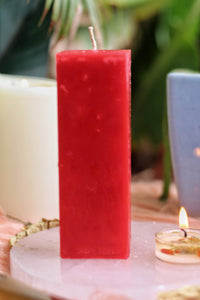 Red Pillar Candle | Candle for spellwork