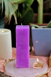 Purple Pillar Candle | Candle for spellwork