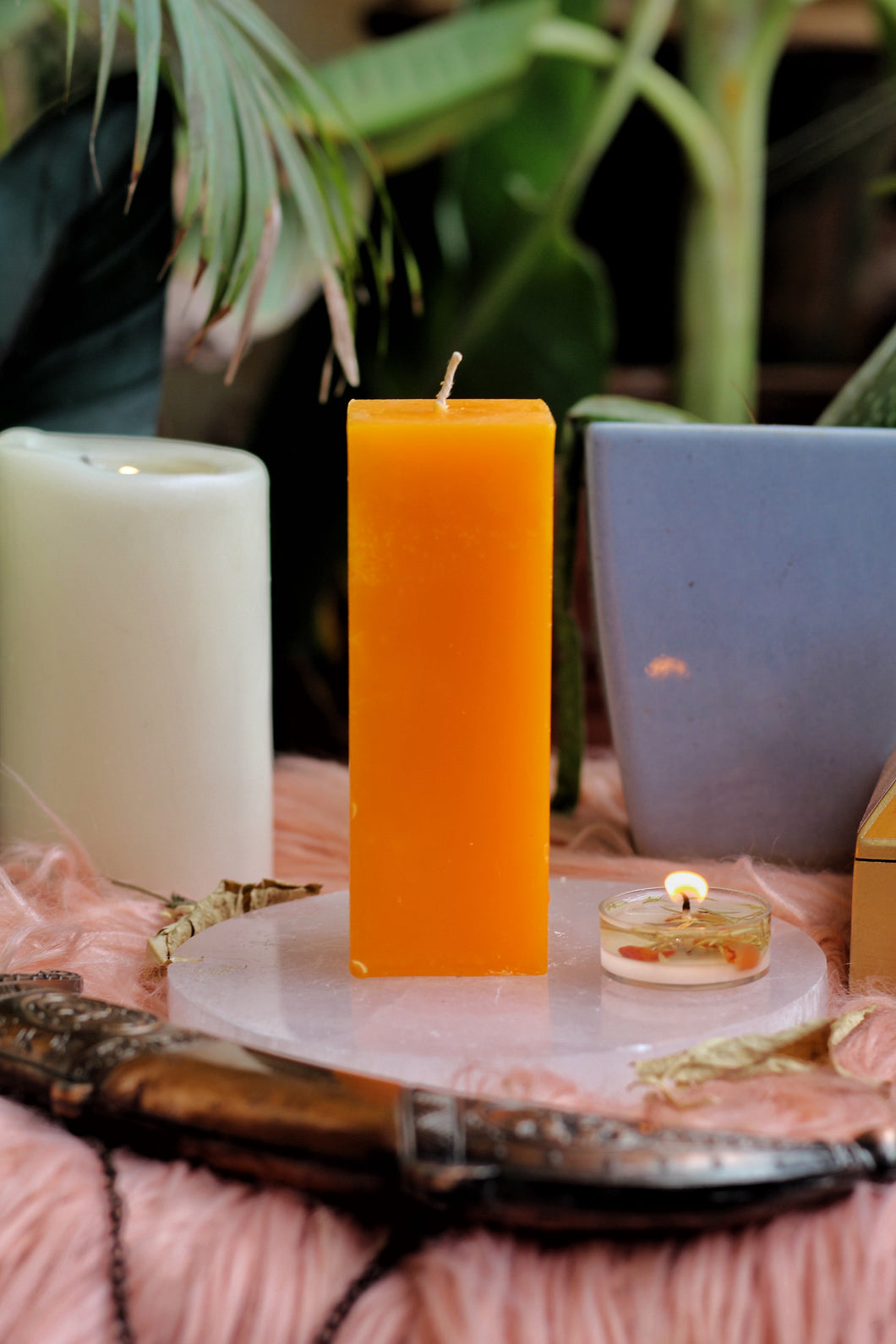 Orange Pillar Candle | Candle for spellwork