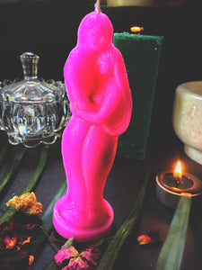 Pink Couple Candle Infused with Honey