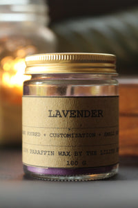 Lavender Scented Candle + Lavender Buds Candle - 100 gm wax