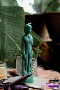 Green Male Figurine Candle