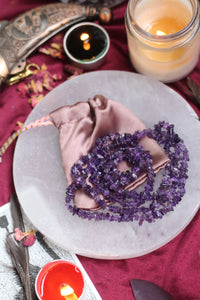 Amethyst Chips String (Mala) - 1 Piece